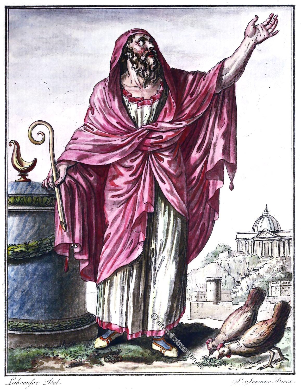 Augur, Auguren, antike, Altertum, Hellseher, Orakel, Rom,
