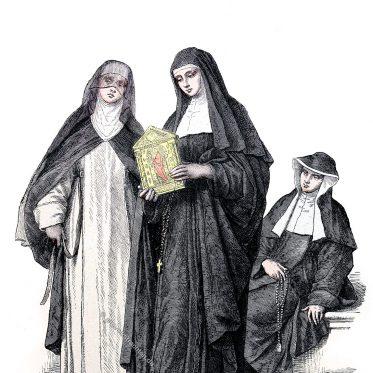 Habit der Nonnen des Ordens der Augustinerinnen.