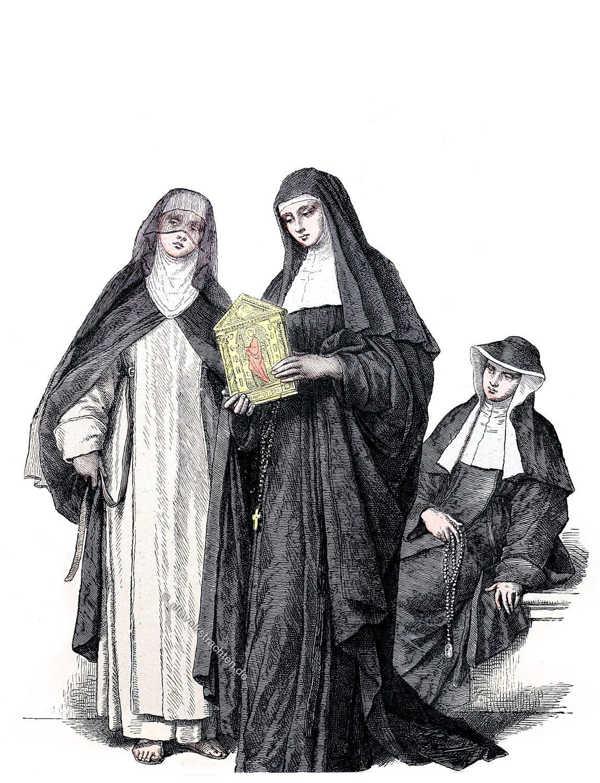 Münchener Bilderbogen. Habit, Augustinerinnen, Nonne, Kostüm
