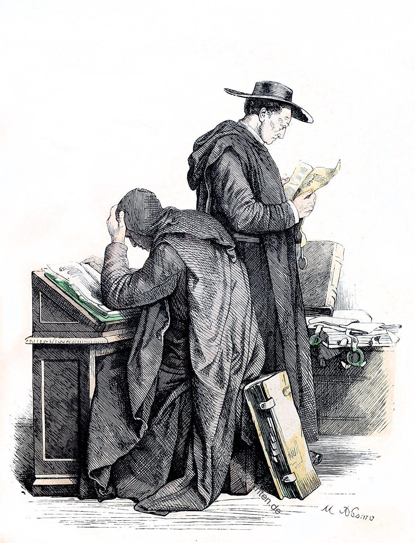 Münchener Bilderbogen, Benediktiner, Habit, Mönche, Tracht, Orden