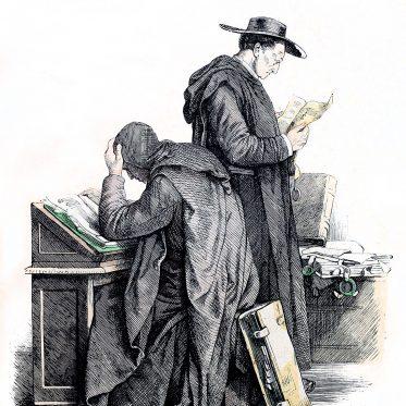 Habit der Benediktiner Mönche. Geistliche Ordenstrachten.