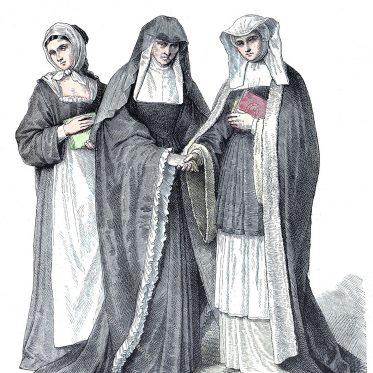 Habit der Nonnen des Ordens der Benediktinerinnen.