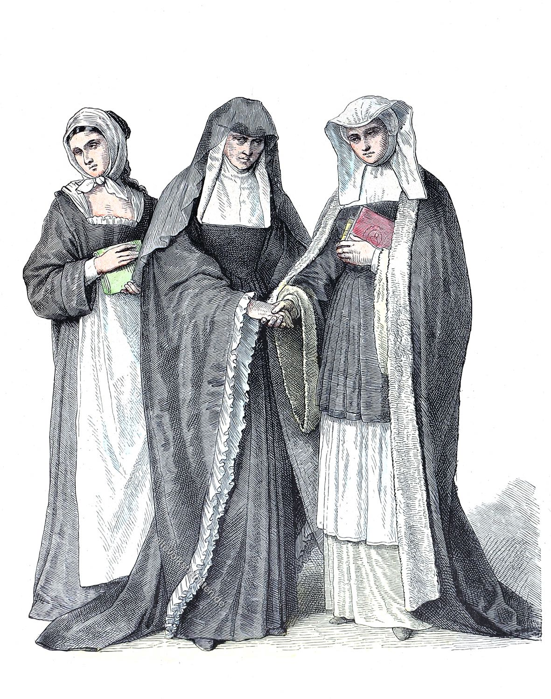 Münchener Bilderbogen. Habit, Benediktinerinnen, Nonne, Kostüm