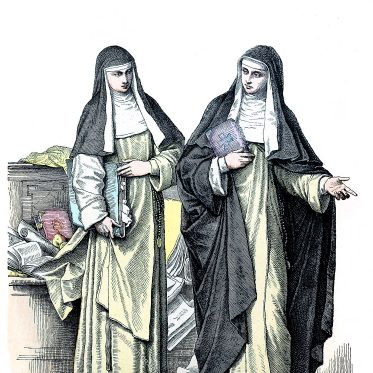 Habit des Ordens der dominikanischen Nonnen.