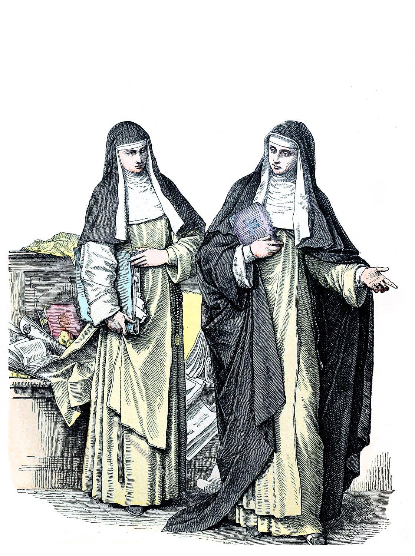Münchener Bilderbogen. Habit, Dominikanerinnen, Nonne, Kostüm