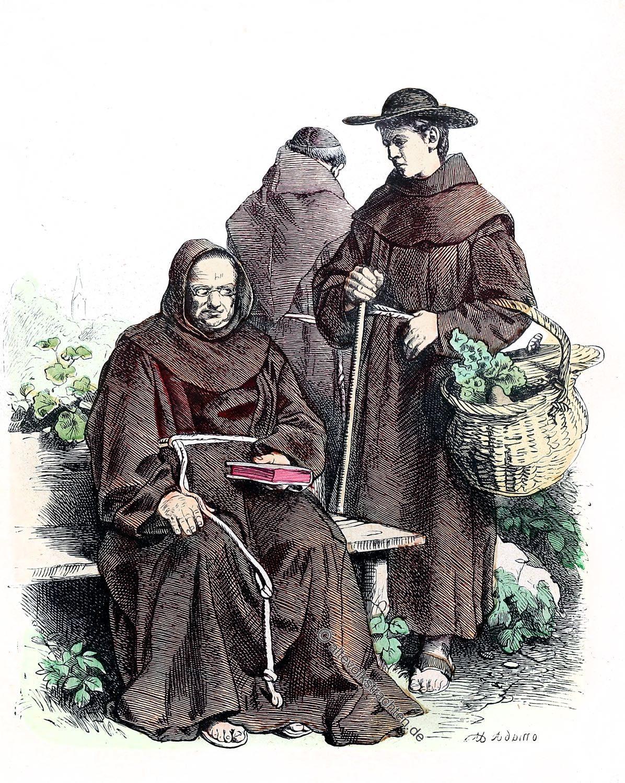 Münchener Bilderbogen, Franziskaner, Kostüm, Habit, Mönche, Tracht