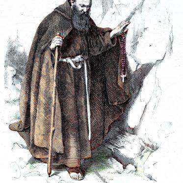 Habit eines Hieronymiten (Einsiedler). Geistliche Ordenstrachten.