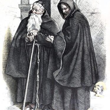 Habit der Kapuziner Mönche. Geistliche Ordenstrachten.