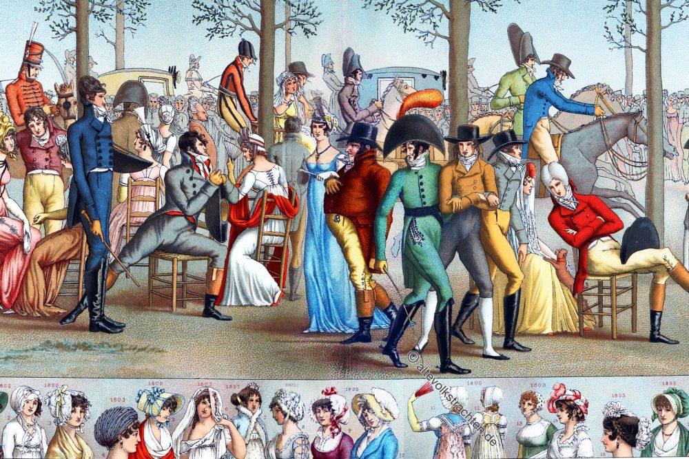 Promenade, Longchamp, Long-Champ, Mode, Consulat, Kostüme,