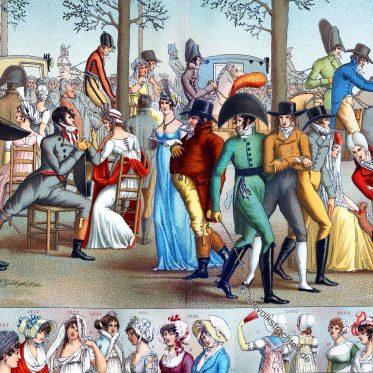 Die Moden unter dem Konsulat. Spazierfahrt nach Longchamp.