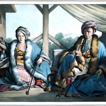 Ismail Bey und Mehmed Pascha. Porträts von Louis Dupré.
