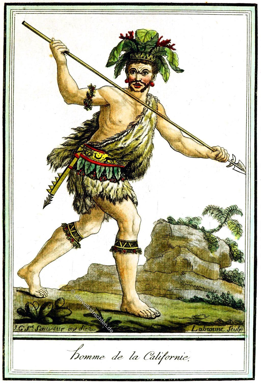 Ureinwohner, Kalifornien, Kleidung, Kostüm,