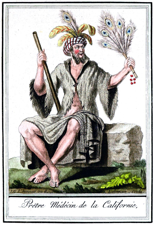 Medizinmann, Ureinwohner, Kalifornien, Kleidung, Kostüm,