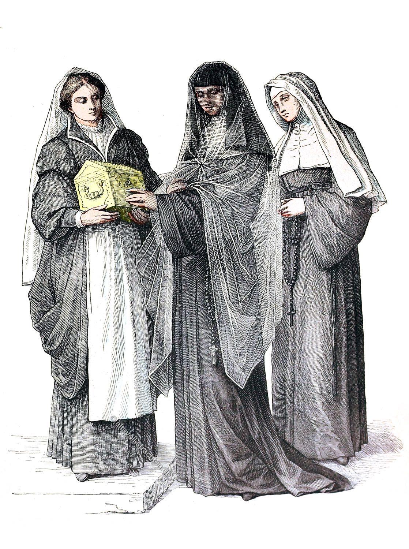 Nonnen, Ursulinen, Habit, Kleidung, Ordenstracht