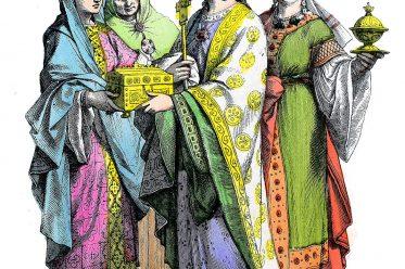Münchener Bilderbogen, Franken, Ottonen, Kleidung, Kostüme, Mittelalter, Mode