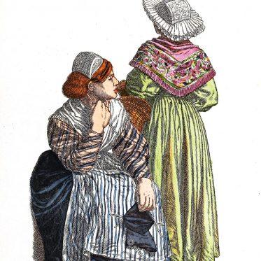 Bäuerinnen aus der Umgebung von Koblenz im 19. Jh.