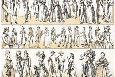 Mode, Kostüme, Empire, Regency, 18. Jahrhundert,