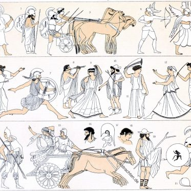 Die Etrusker. Kultur, Trachten, Krieger in Etrurien.