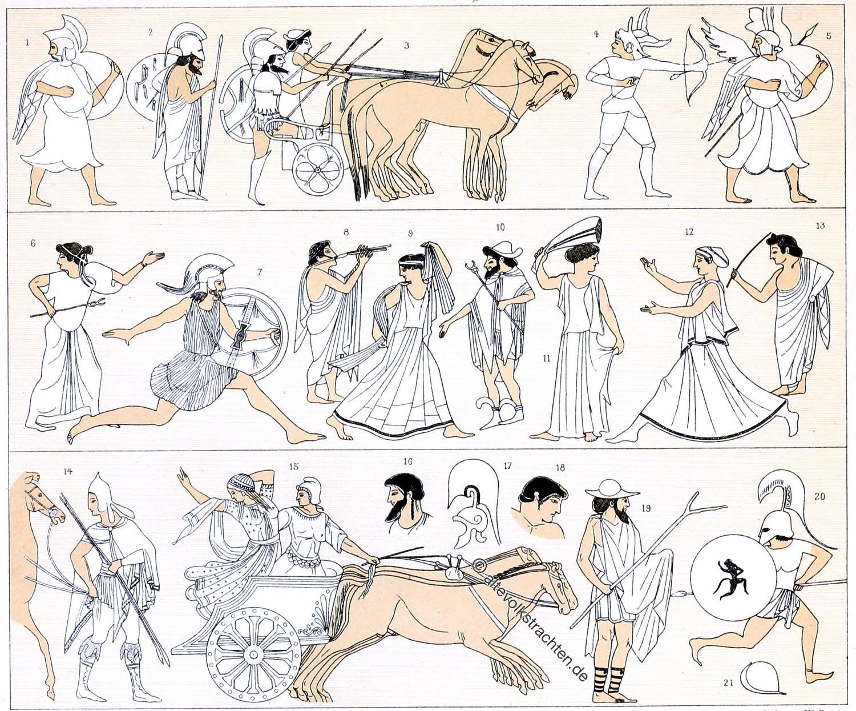 Etrusker, Etrurien, Kultur, Trachten, Krieger, Antike.