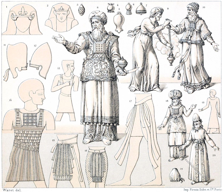 Kostümgeschichte, Hebräer, Israeliten, Juden, Kleidung, Hohepriester