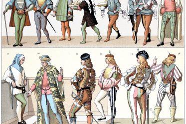 Condottiere, Condottieri, Italien, Söldner, Kostüme, Bekleidung, Renaissance, Soldaten, Pagen, Bürger, Trachten,