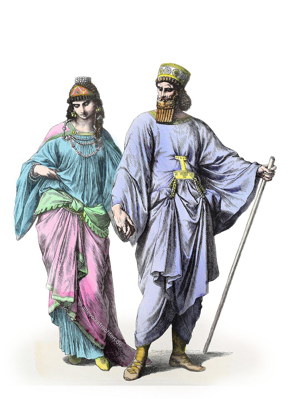 Meder, Kleidung, Kostüme, Medien, Mesopotamien,