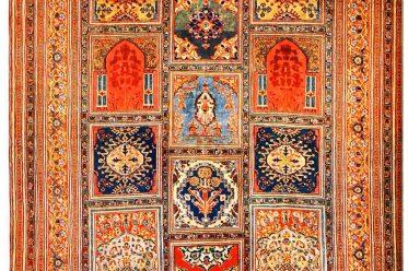 Antik, Täbris, Seidenteppich, Persien, Iran