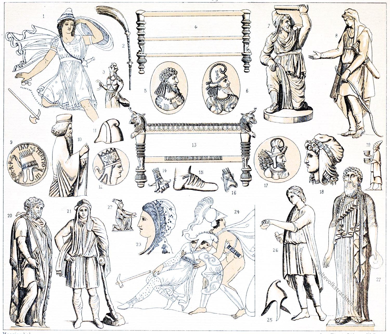 phrygische Mütze, Anaxyrides, Amazonen, Tiara, Antike, Parther, Meder, Kostüme,