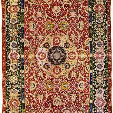 Antik, Persianer, Teppich, Orientteppich, 16. Jahrhundert,