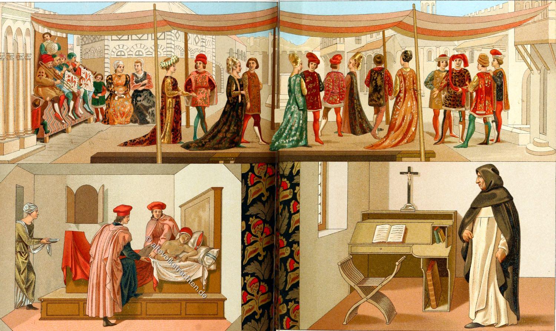 Renaissance, Hochzeit, Mode, Kostüme, Italien, Florenz