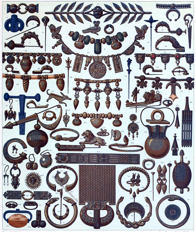Schmuck, Antike, Griechisch-Römisch, Etrusker, Goldschmiede, Juwelierkunst