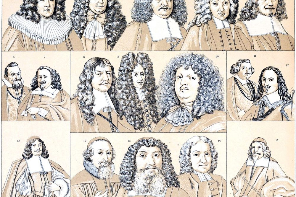 Allongeperücken, Bart, Haar, Perücken, Moden, Barock, Rokoko,