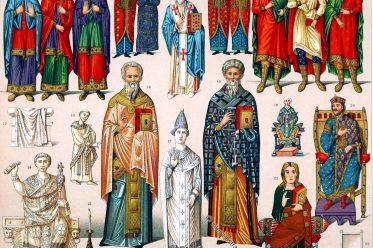 Byzanz, Kostümgeschichte, Byzantinisches Reich, Konsul, Klerus, Kaiser