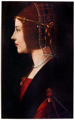 Dame, Mailand, Renaissance, Perlennetz, De Predis,