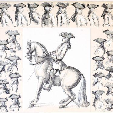 Der Dreispitz Hut. Moden des Barock und Rococo.