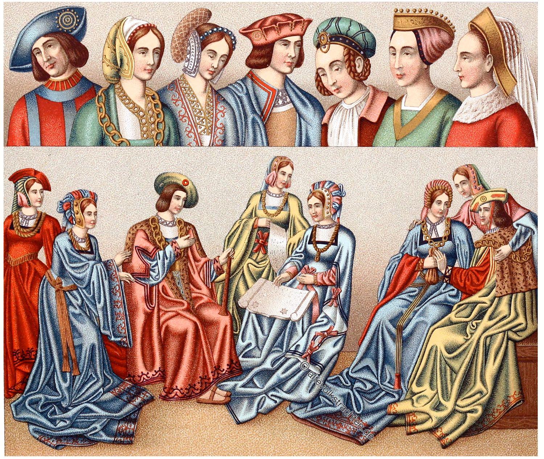 Festkleidung, Mode, Bekleidung, Renaissance, 15., 16. Jahrhundert, Kostüme,