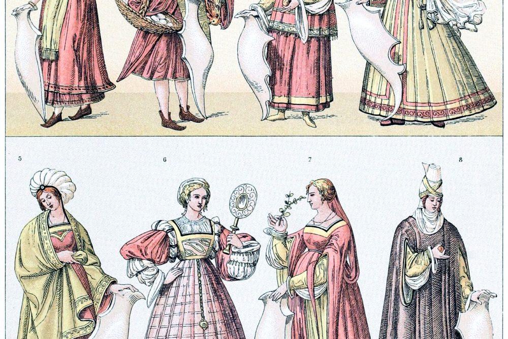 Italien, Mode, Frührenaissance, Kostüme, Trachten