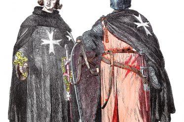 Johanniter, Ritterorden, Malteserorden, Ritter, Mittelalter, Kreuzzug, Kostüm, Bekleidung, Münchener Bilderbogen