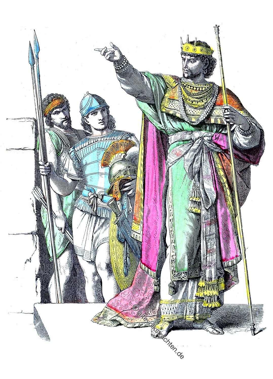 Krieger, Juden, Hebräer, Kostüme, Bekleidung, König, Altertum,