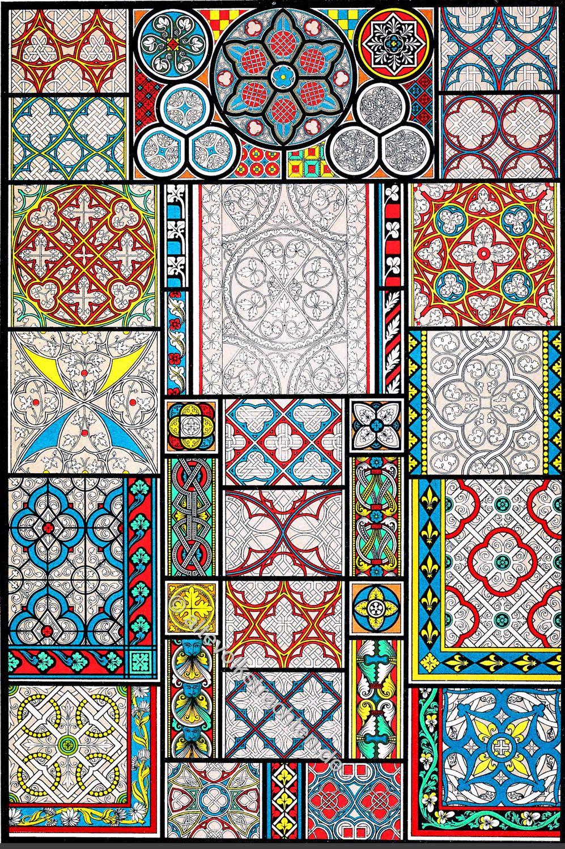 Glasmalerei, Kirchenfenster, Grisaille-Fensterrosen, Mittelalter, Kathedralen, Münster