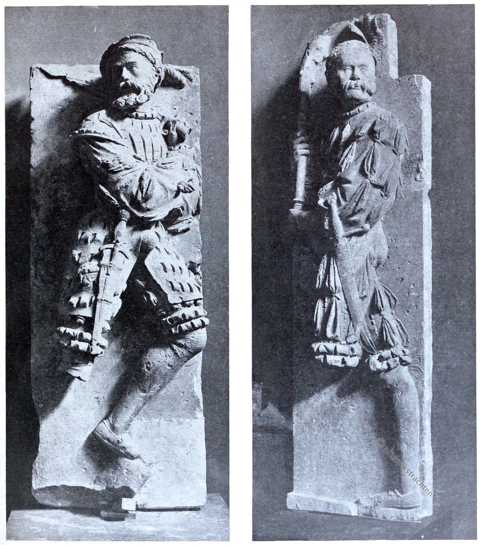 Landsknechte, Skulptur, Plastik, Renaissance, Frankreich, Chateau, Mognevill, Louvre