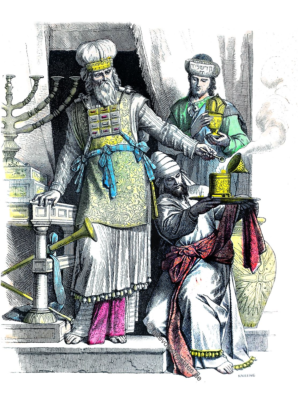 Leviten, Oberpriester, Juden, Hebräer, Kostüme, Bekleidung, kohen gadol, כהן גדול, Altertum,
