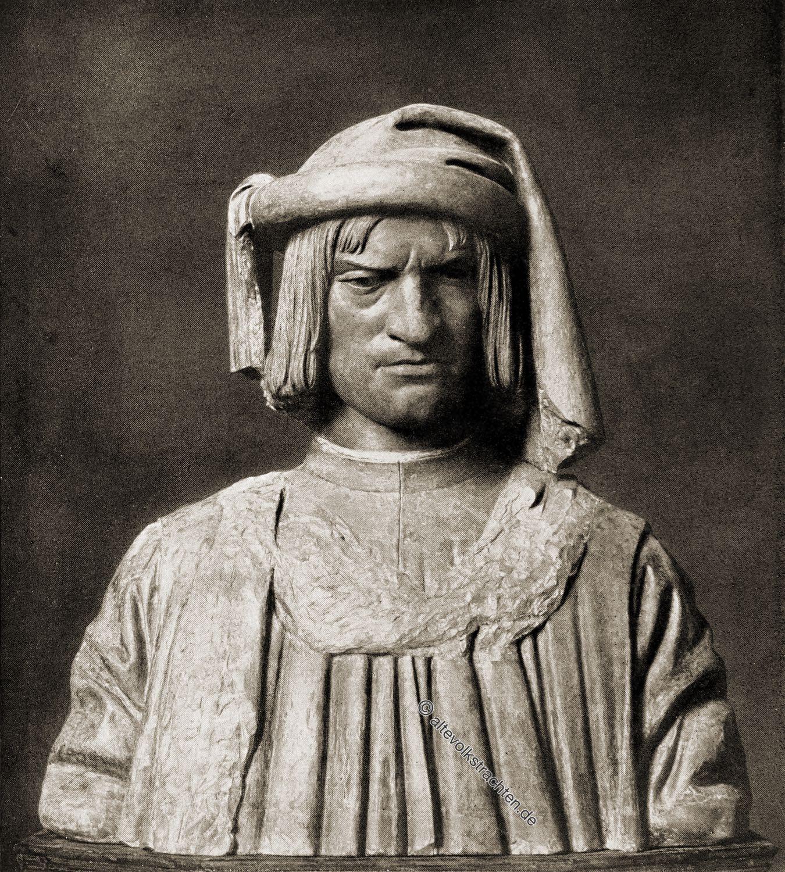 Renaissance, Büste, Andrea, del, Verrocchio, Lorenzo, il, Magnifico.,
