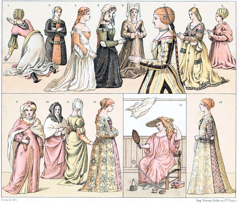 Renaissance, Edeldamen, Trachten, Mode, Kostüme, Bekleidung, Italien, Venedig, Holland,