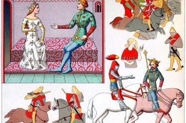Mittelalter, Trachten, Schnabelschuhe, Militär, Ritter, Bürger,