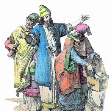 Vornehme Juden. Jüdische Kleidung des Altertums.