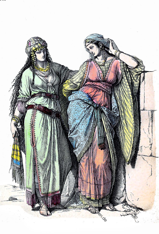 Hebräer, Israelitin, Jüdinnen, Kleidung, Kostüme, Altertum, Antike, Kostüme
