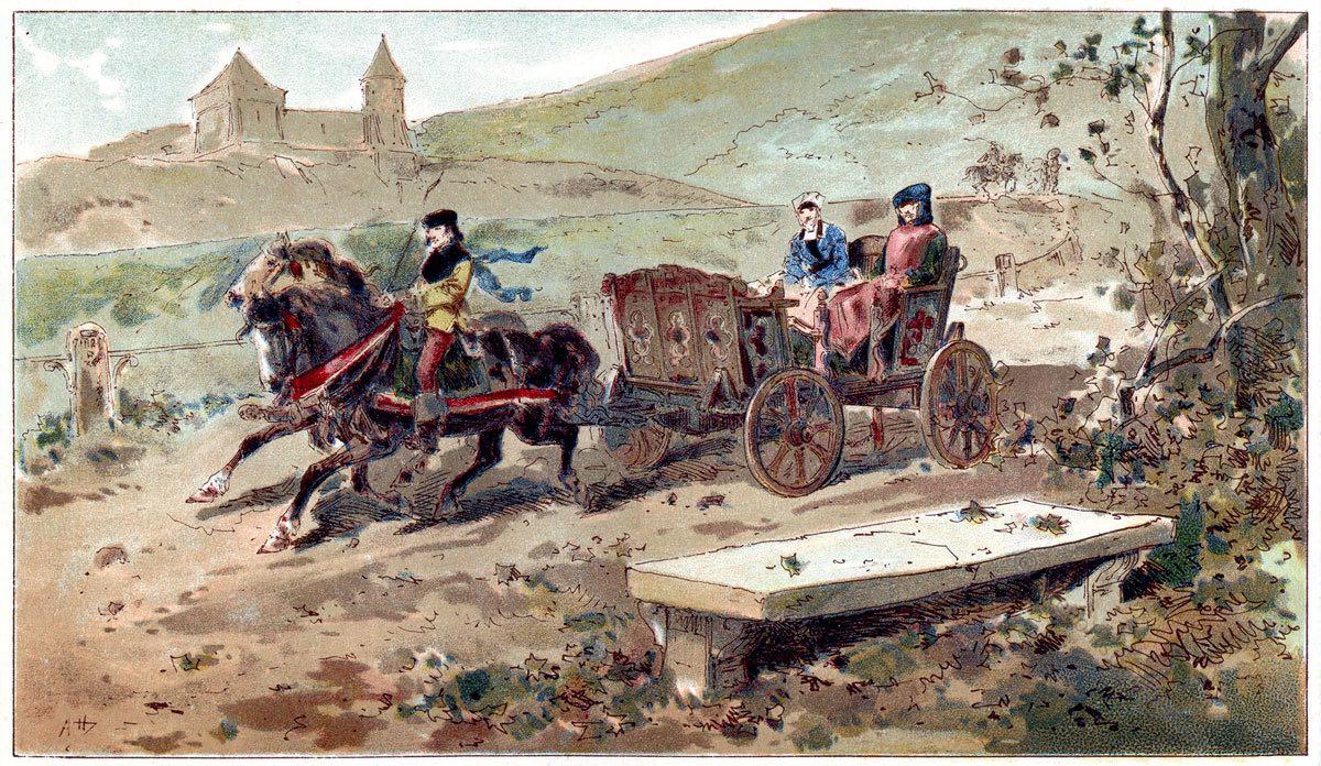 Chars Branlants, Reisewagen, Kutsche, Barock, Karosse,