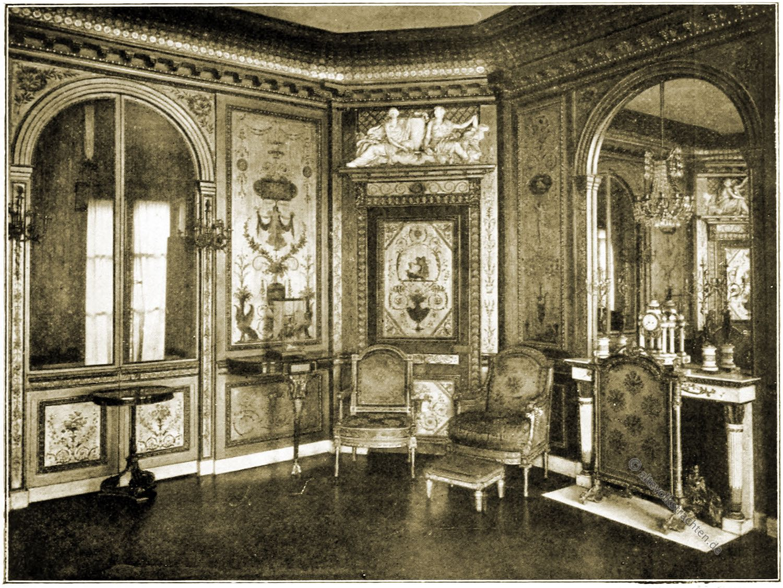 Marie Antoinette, Schloss, Fontainebleau, Boudoir, Barock, Rokoko,