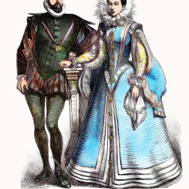 Spanische Mode der Edelleute. Renaissance 16. Jh.
